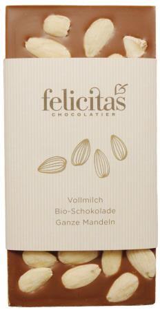 Tafelschokolade Bio mit Mandeln