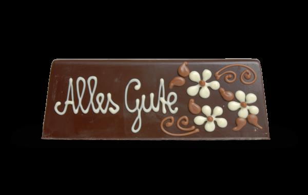 Tischkärtchen individuell gestalten aus Schokolade
