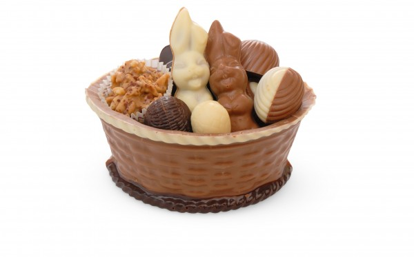 Osterkörbchen aus Schokolade