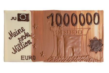 Geldschein aus Schokolade