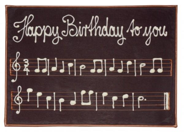 Schokoladenkarte A5 Happy Birthday