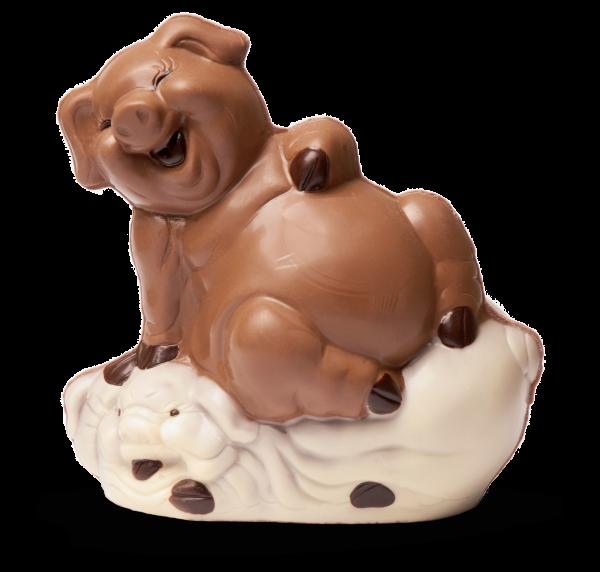 Schweine aus Schokolade