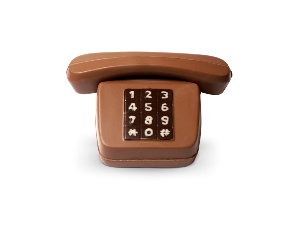 Telefon aus Schokolade
