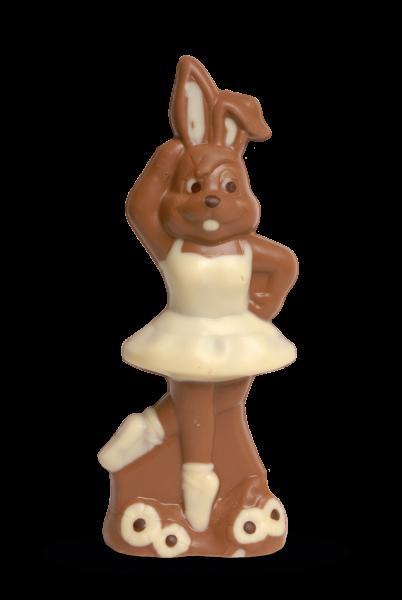 Osterhasenmädchen aus Schokolade
