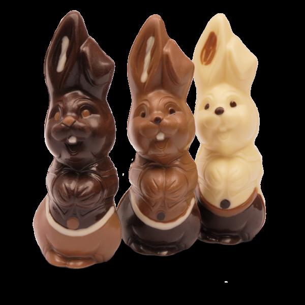 Lachhase groß aus Schokolade