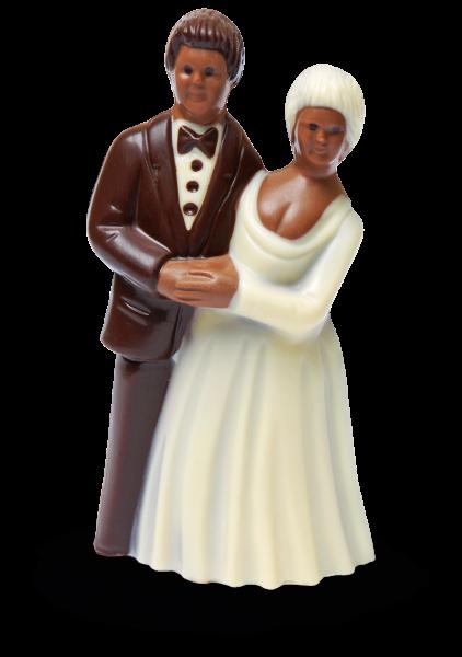 Brautpaar mittel aus Schokolade