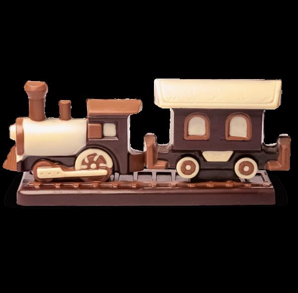 Eisenbahn aus Schokolade