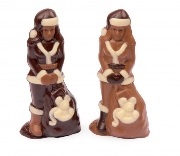 Weihnachtsfrau aus Schokolade