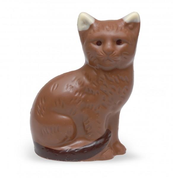 Schokoladen-Katze mit Schleife