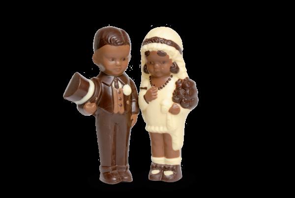 Brautpaar aus Schokolade